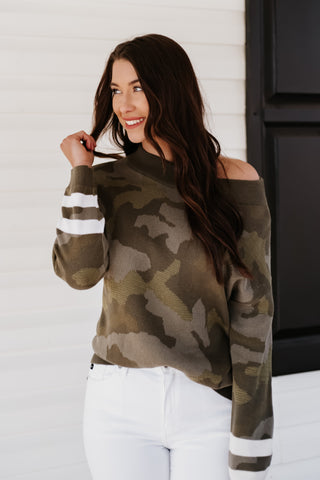*NEW* Penelope Camo Pullover Sweater
