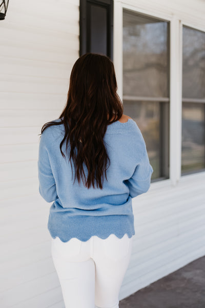 Cora Scalloped Sweater