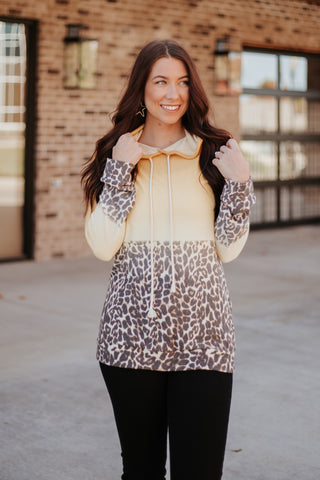 {Last Chance} Leah Faded Leopard Hoodie  **ALL SALES FINAL**
