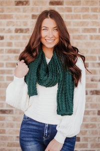Hunter Green Chunky Knit Scarf