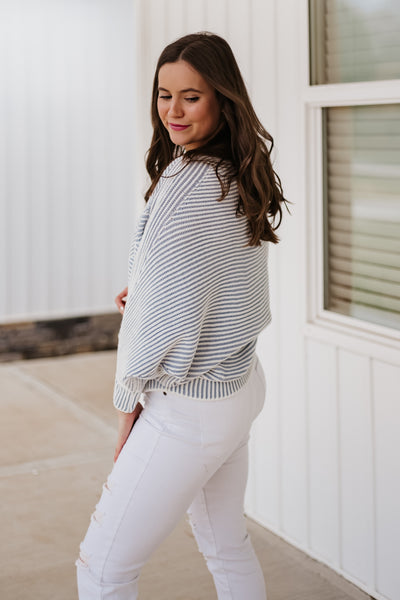 Ruby Striped Ribbed Sweater