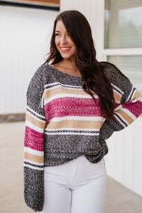 {Last Chance} Emilee Striped Sweater *ALL SALES FINAL*