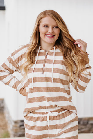*NEW* Layla Striped Zipper Hoodie