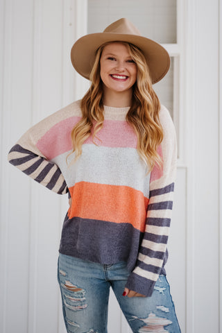 *NEW* Sarah Multi Color Striped Sweater