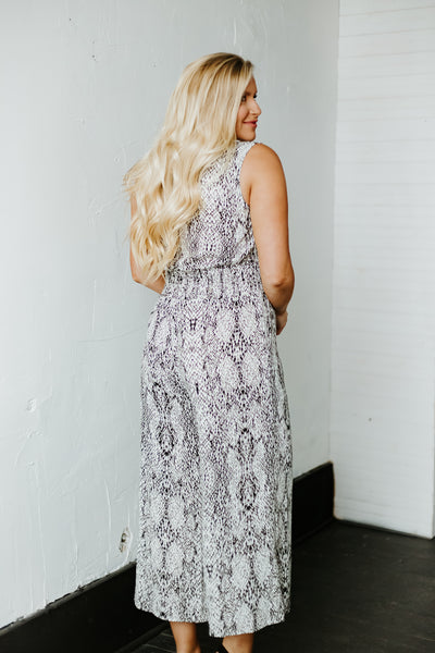 {Last Chance} Carry Me Sleeveless Jumpsuit ~ Gray *FINAL SALE*