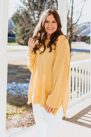 *NEW* Emily Oversized Waffle Knit Top