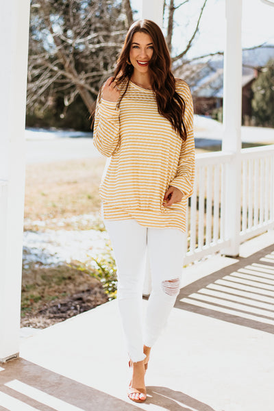 *NEW* Nia Oversized Striped Pullover
