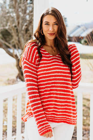 *NEW* Alana Crew Neck Striped Sweater