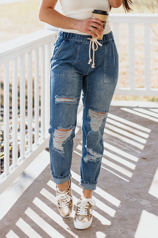 *NEW* Vicki High Waisted Distressed Straight Leg Jeans