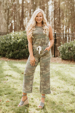 *NEW* On The Hunt Camo Romper ~ Olive