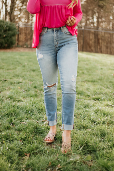 Kancan Carol High Rise Ankle Skinny Jeans ~ Medium