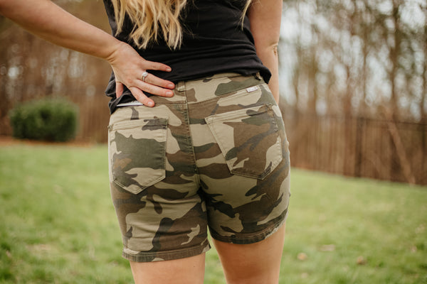 {Last Chance} Kancan Camilla Camo Shorts ~ Camo *FINAL SALE*