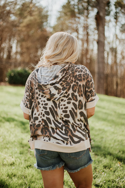 Just In Time Hooded Top ~ Leopard