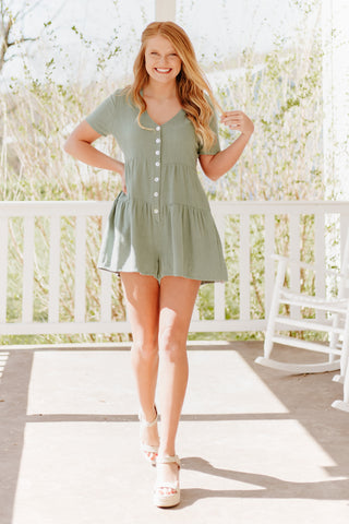 *NEW* Ella Linen Button Up Romper