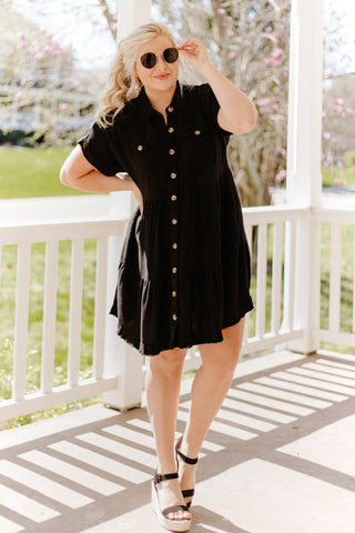 *NEW* Breana Button Down Linen Dress