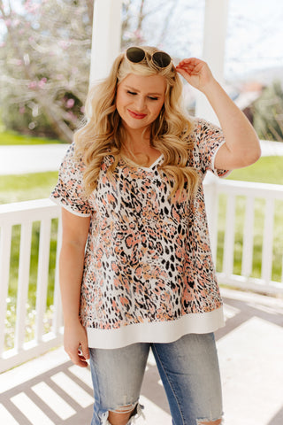 *NEW* Lindsey Animal Print Jersey Top
