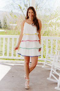 Phoebe Spaghetti Strap Tiered Dress