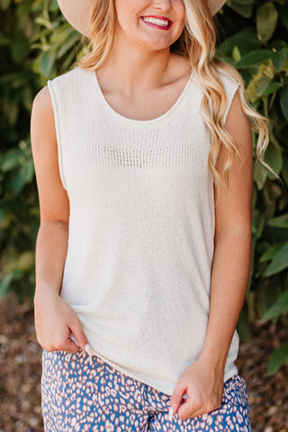 Nevaeh Pointelle Knit Tank Top