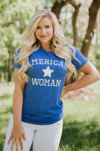 {Last Chance} American Woman Graphic Tee *FINAL SALE*