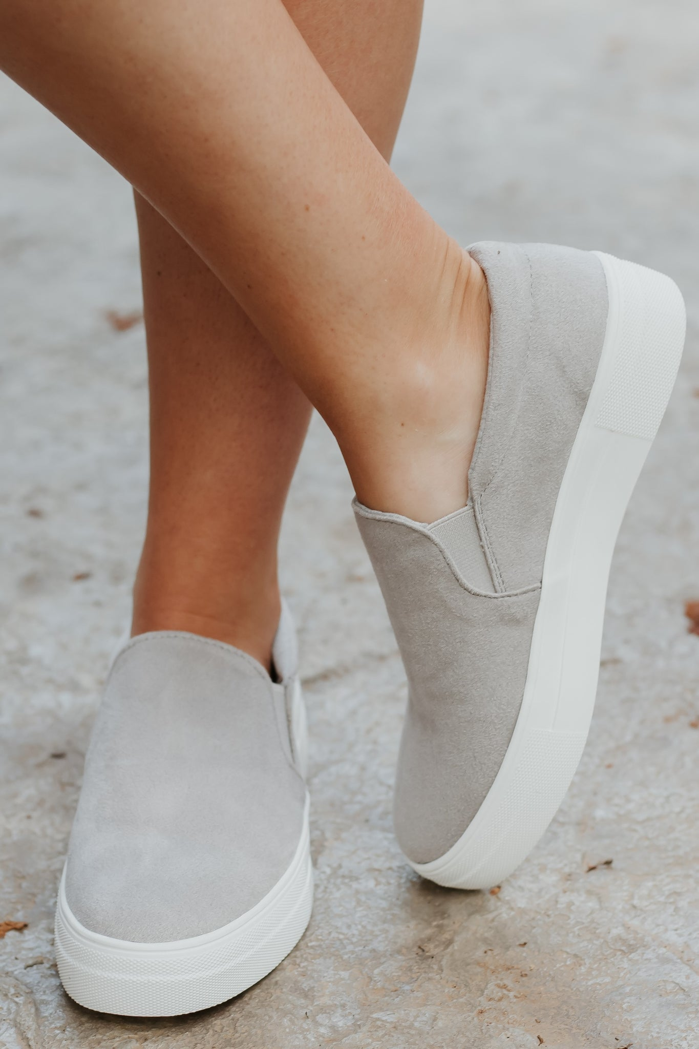 Hike Grey Slip On Sneakers