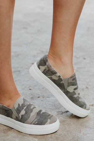 {Last Chance} Hike Camo Slip On Sneakers **FINAL SALE**