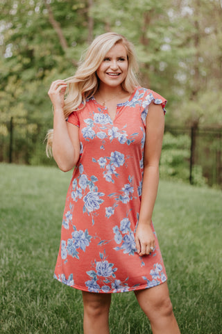 *NEW* Vivian Short Sleeve Floral V Neck Dress