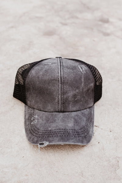 *New* Distressed Criss Cross C.C. Hat