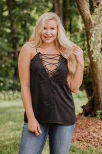 *NEW* Paisley Embroidery Lace Tank Top