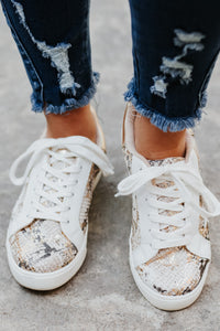 *New* Cutie Patootie Gold Lace Up Tennis Shoes