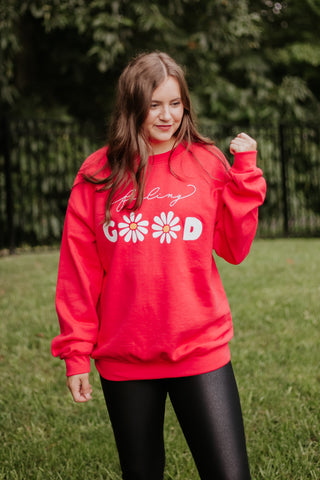 *NEW* Feeling Good Paprika Graphic Sweatshirt