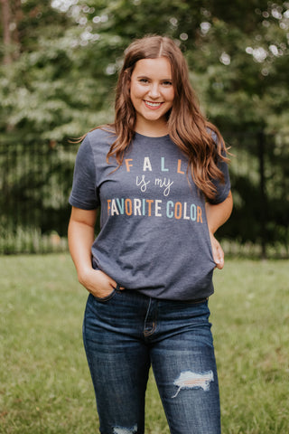 {Last Chance} Fall Is My Favorite Color Graphic Tee **FINAL SALE**