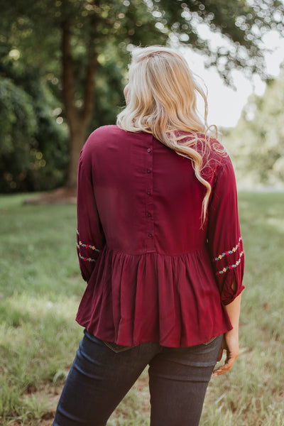 Marissa Embroidered Top