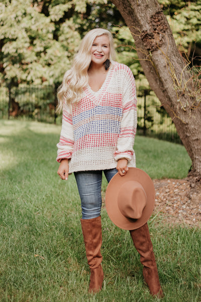 *NEW* Meadow Striped Knit Sweater