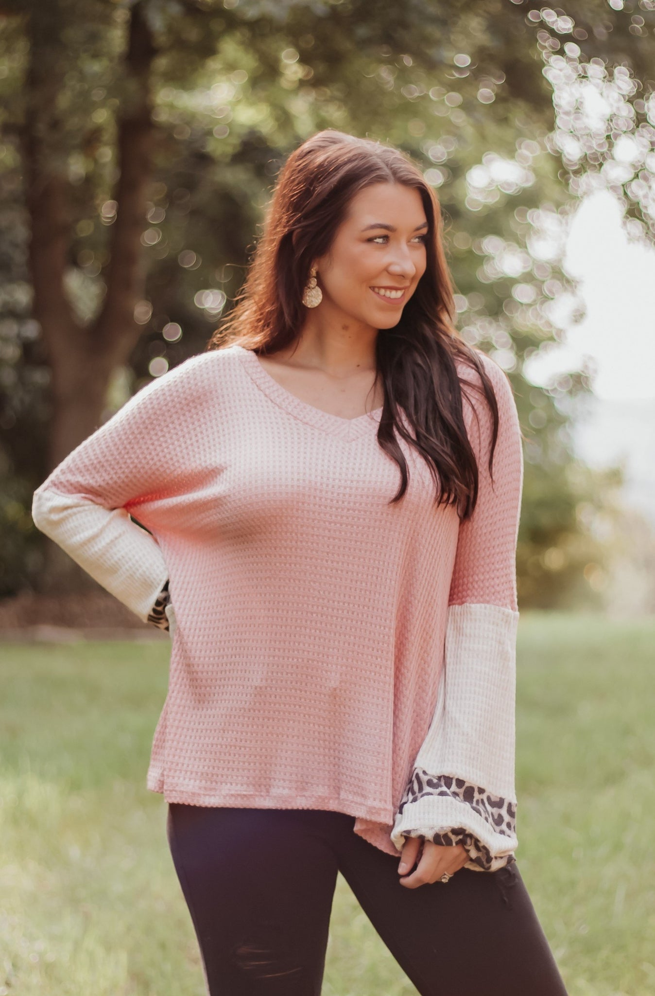 *NEW* Mira Mauve Colorblock Top