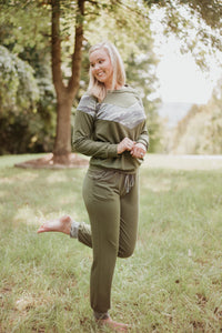 {Last Chance} Francesca Camo Lounge Set **FINAL SALE**