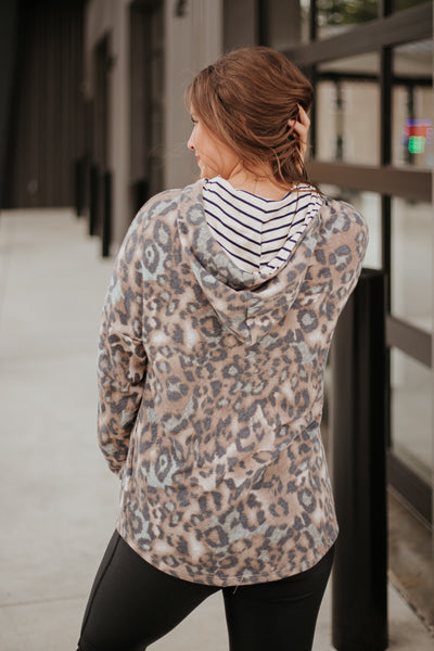 {Last Chance} Nadia Leopard Hoodie **FINAL SALE**