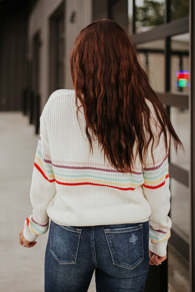 Celeste Rainbow Striped Sweater