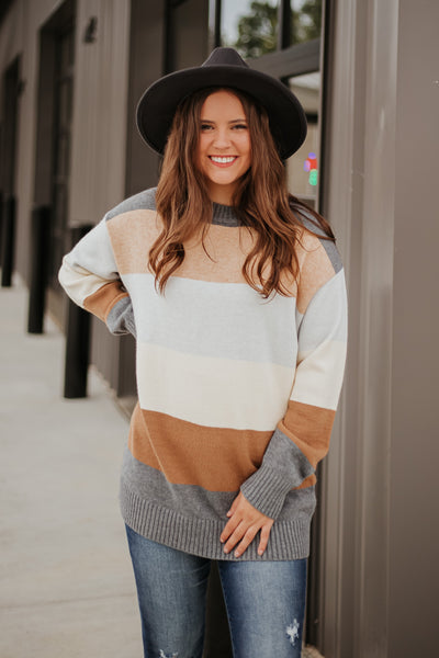Lindsey Color Block Sweater