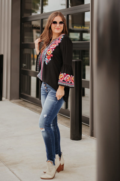 *NEW* Amora Floral Embroidery Top