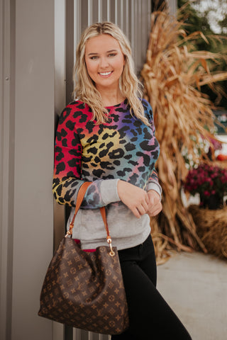 *NEW* Blair Colorful Leopard Pullover