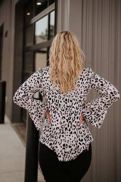 {Last Chance} Emmy Leopard Embroidery Top   **ALL SALES FINAL**