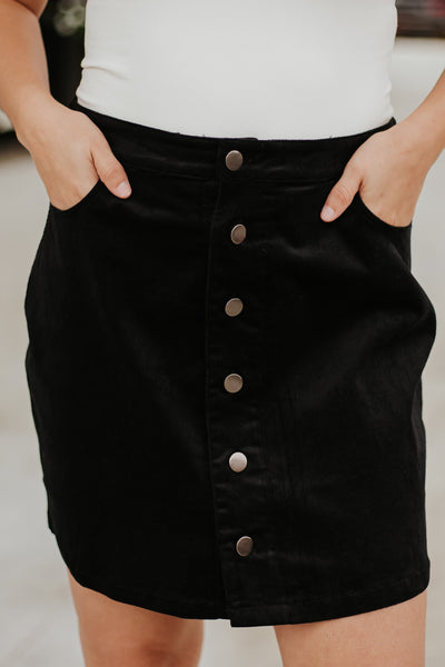 *NEW* Collins Button Corduroy Skirt