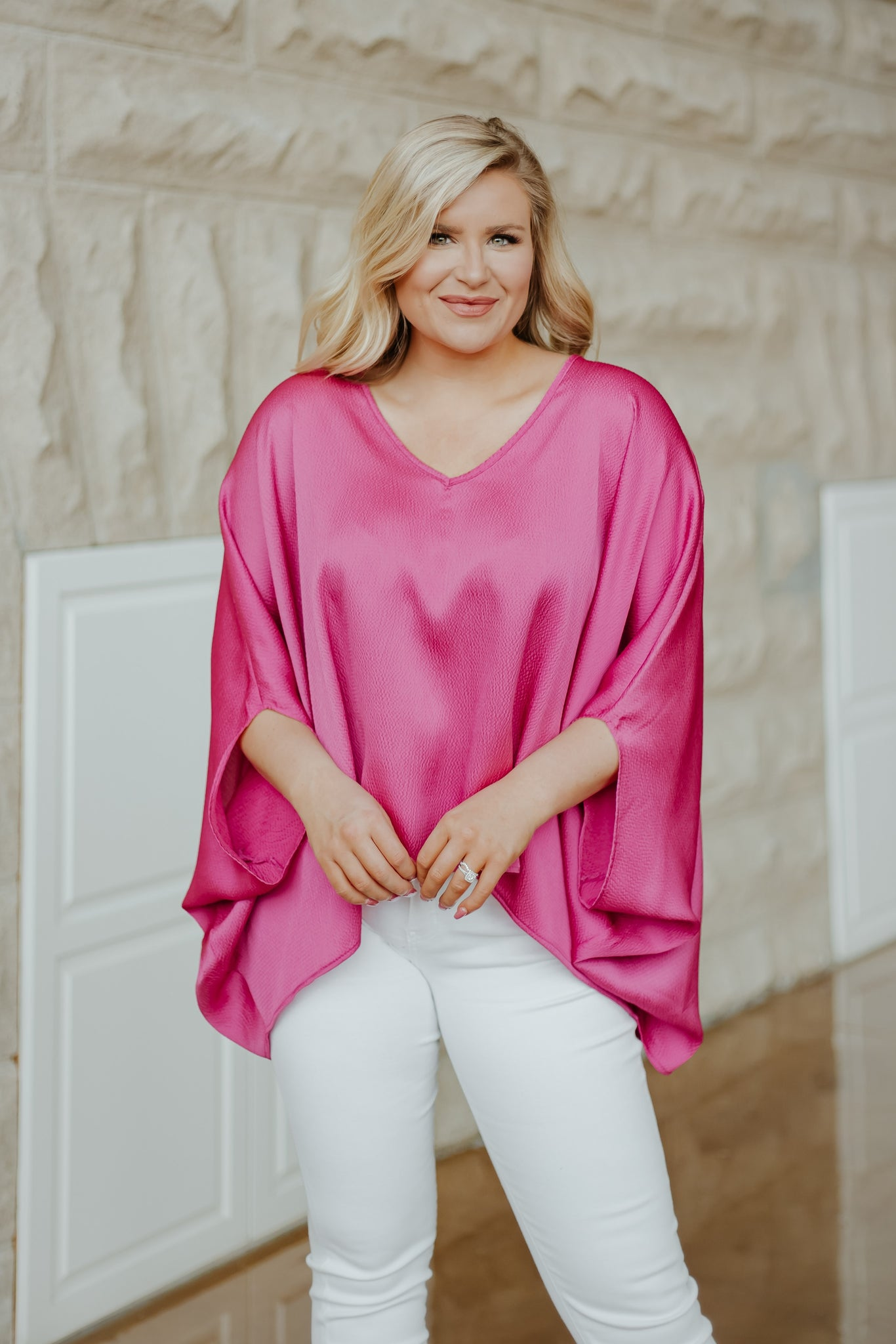 {Last Chance} I'm So Pink Poncho Style Top ~ Pink *FINAL SALE*