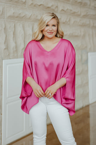 I'm So Pink Poncho Style Top ~ Pink