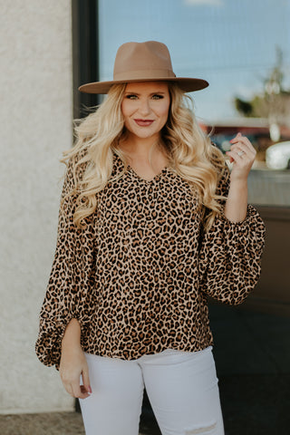 *NEW* Leeza Leopard Top ~ Animal Print