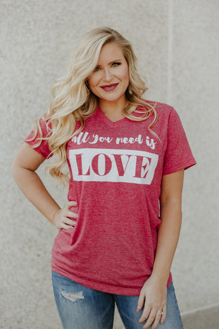 *NEW* All You Need Is Love Graphic Tee ~ Red