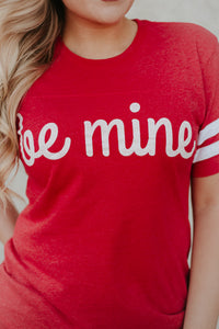 *NEW* Be Mine Short Sleeve Ringer Tee ~ Red - Be You Boutique