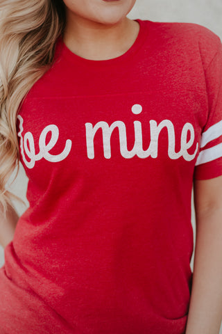 *NEW* Be Mine Short Sleeve Ringer Tee ~ Red