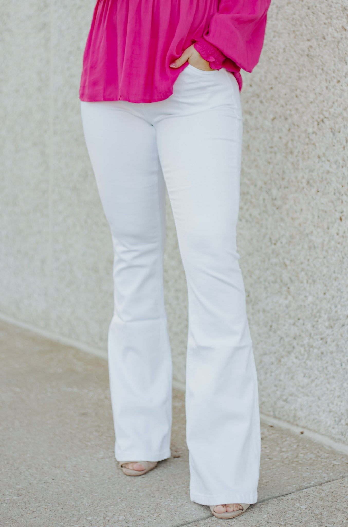 *New* Kancan Julie Bootcut Flare Jeans ~ White - Be You Boutique