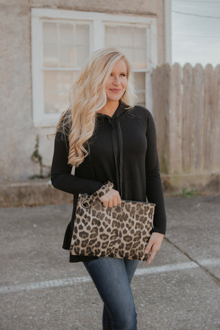 Madison Clutch ~ Animal Print